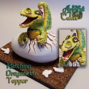 Hatching Dragonette Topper Heather Sherman