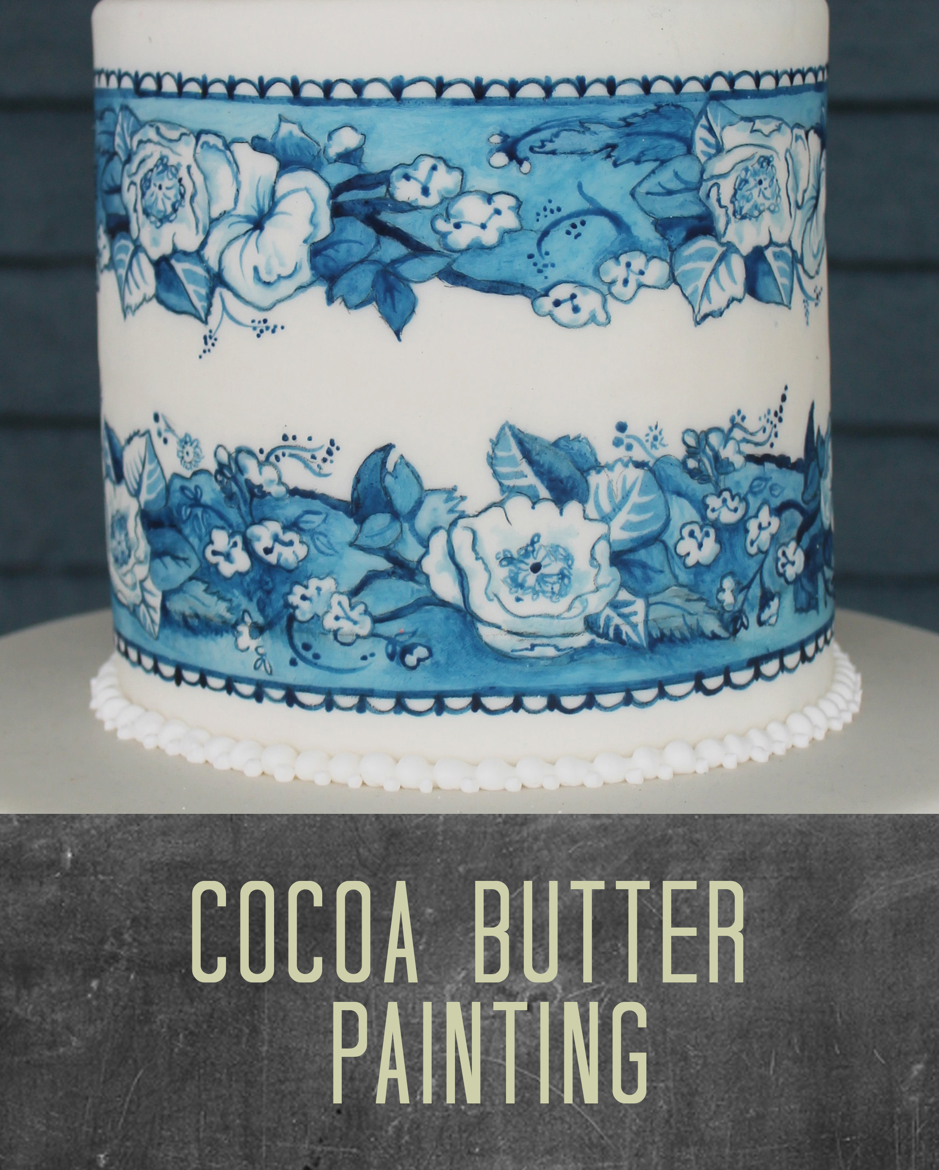 Painting On Cakes With Cocoa Butter